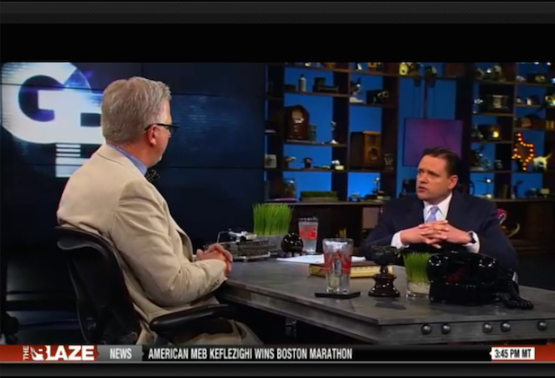 Robert Muise with Glenn Beck