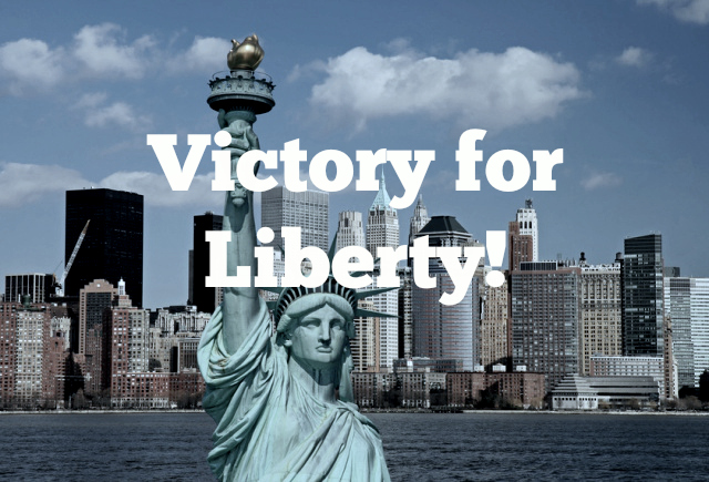 Victory in New York!