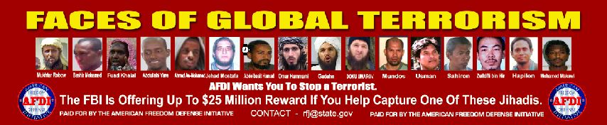 AFDI Ad: Faces of Global Terrorism